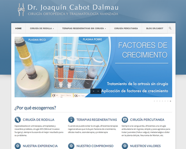 Dr Cabot y su nueva Web