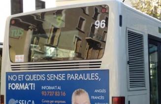 Publicidad Sabadell y sus anucios locales en los autobuses
