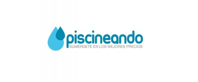 Logo de Piscineando.com una web ecommerce que vende material para piscinas