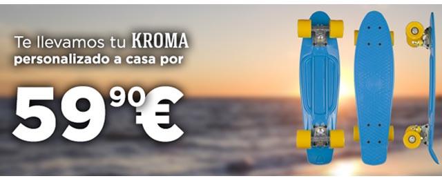 Skate barato mini cruiser Kroma Carles Gili