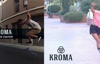 Rider Elisabet Melero y Sergi Sanmarti de Kroma Skateboards