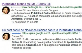 Google Aurhor Rank Publicidad en Internet Carles Gili