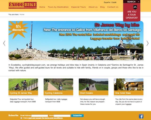 Homepage-CyclingHolidays-Spain-Exode-Bike-CarlesGili-Especialista-SEO